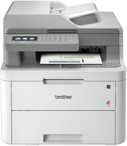 Brother MFC-L3710CW Compact Digital Color All-in-One Printer Providing Laser Printer Quality Results with Wireless