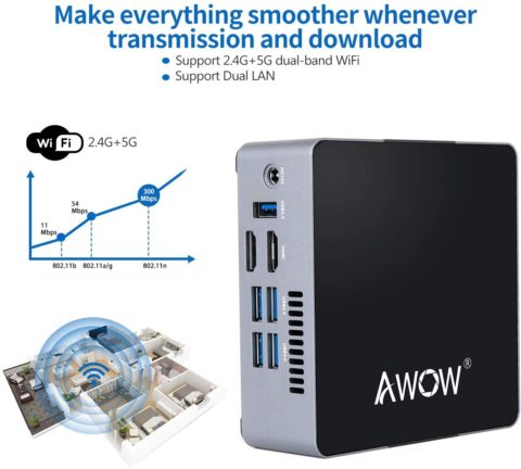 Mini PC 6GB DDR4 AWOW Desktop Computer