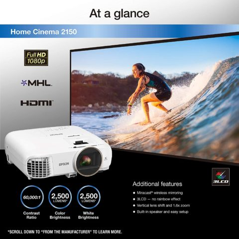 Epson HC2150 3LCD Home Cinema projector