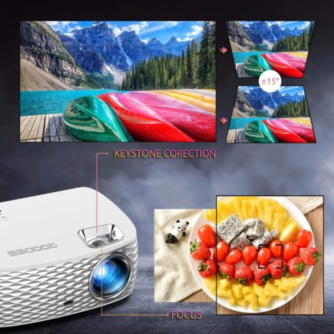 GooDee BL98 1080P HD Video Home Theater Projector