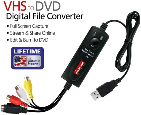 Diamond VC500 USB 2.0 One Touch VHS to DVD
