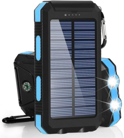 Dual Power Portable Dual USB Solar Battery Charger