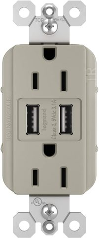 Legrand radiant 15 Amp Decorator Wall Outlet