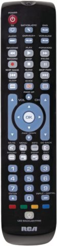 RCA RCRN05BHE 5-Device Backlit Universal Remote W/streaming