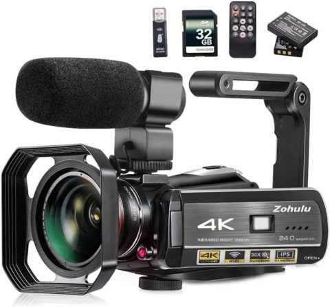Video Camera, Zohulu 4K Camcorder