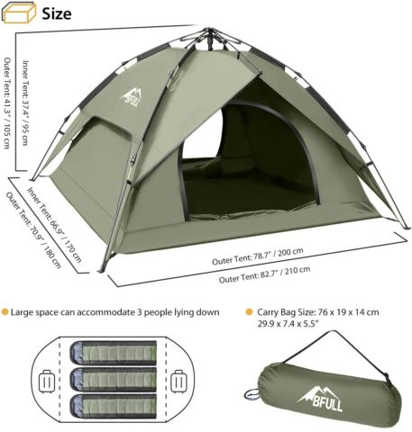 BFULL Instant Pop Up Camping Tents